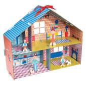 La casa delle bambole fai da te in cartone