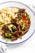 Pepper Steak (Chips & Rice)