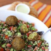 Ensalada de quinoa israelí