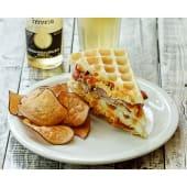 Waffle bacón y cheddar + gaseosa