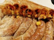 Pita kurkuma sa sirom, ajvarom i kukuruzom šećercem