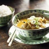 Curry massaman de pollo y coco