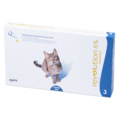 Revolution Gatos 6% X 0.75Ml (Caja X 3 Pipetas)