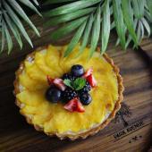 Персиковий тарт на песочній основі (200г)