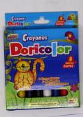 Crayones Colores Cortos Delgados Jgox08Un Vivos Cja Carton