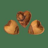 Set of Three Tiny Heart Bowls