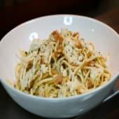 Spaghetti con salsa carbonara