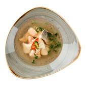 Юшка з трьох сортів риби: чилійський сібас, лосось, форель (300г)