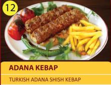 Adana Kebap - Turkish Adana shish kebap plate