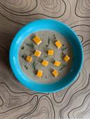 Грибний крем-суп з сирними грінками (330г)
