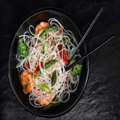 Rice Noodle with Prawns + Veges