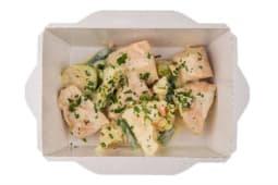Індичка з овочами у вершковому соусі (150г)