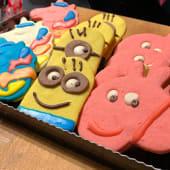 Bandeja de 12 cookies infantiles