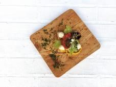 Брускетта з овочами гриль (1шт)