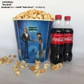 Великий попкорн сир (6л) + напій Кока-Кола 2х (0,5л)