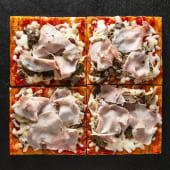 Pizza Prosciutto e funghi (4 pzs.)