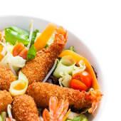 Crispy salad de langostinos