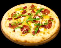 Піца мисливська з сиром Фета