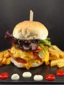 Hambúrguer Americano Duplo