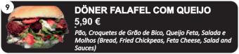 Doner Falafel com Queijo