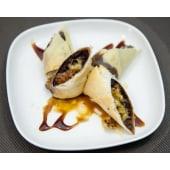 Rollos de plátano con chocolate (4 uds.)