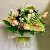 Bouquet Anturium e Rose