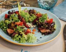 Теплий салат з телятиною та овочами (200г)