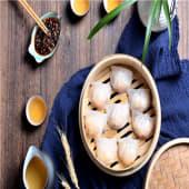 Empanadilla rellena de langostino