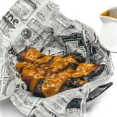 Costillas de cerdo cocinadas a baja temperatura con salsa barbacoa