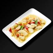 Calamars au curry rouge et lait de coco