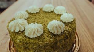 Торт шпинатно-малиновий (250г)