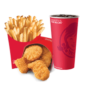 10 ც ქათმის ნაგეთსის კომბო  / 10pcs of Chicken Nuggets Combo