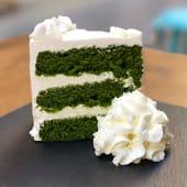 Tarta green velvet de espinacas (vegana)