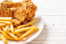 Fried Chicken with Chips