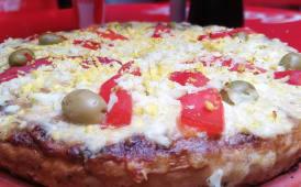 Pizza entera de huevo
