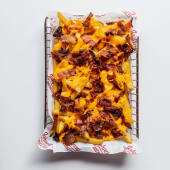 Bacon cheese fries side