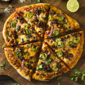 Pizza Jack Daniel´s cremosa de masa madre