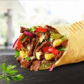 Shaorma Vițel pe plită sandwich