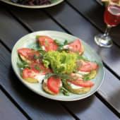 Кабачки смажені під сметанно-часниковим соусом (220г)