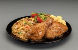 May chicken 2 presas con chaulafan