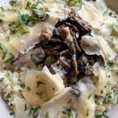 Risotto cu ciuperci și pătrunjel