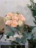 Caja con rosa preservada