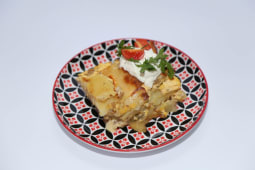 Musaka tikvice porcija