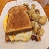 Two Eggs with Toast & Home-fries