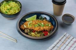 Chow Mein Frango com Amêndoas