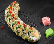 Salmon tempura (sushi roll)
