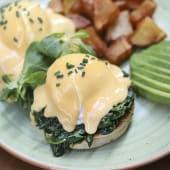 Huevos Benedict Florentine (Sin gluten)