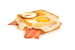 Sándwich Bacon, Queso Edam Y Huevo