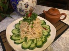 B7 ბამბუკის ყლორტების სალათი
