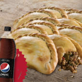 12 empanadas + gaseosa (1.5 lt.)